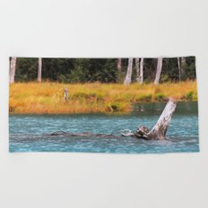 Blue Tranquility Beach Towel