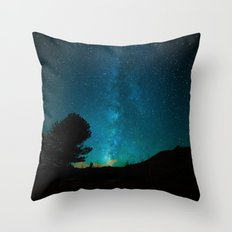 Milky Way Starry Night Photography Throw Pillow