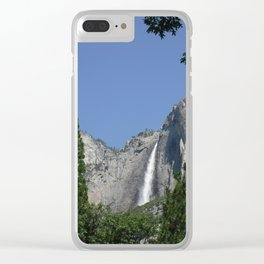 Yosemite valley's waterfall Clear iPhone Case