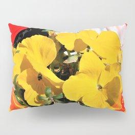 Yellow Pansies Pillow Sham
