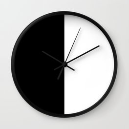 Minimalist Black and White Colorblock Wall Clock