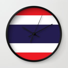 The National flag of Thailand, (formerly known as Siam) Authentic scale and color version  Wall Clock