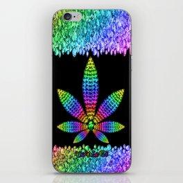 Rainbow Gems Cannabis Leaf iPhone Skin