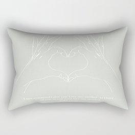 Love One Another John 13:34 Line Art Sketch Green Rectangular Pillow