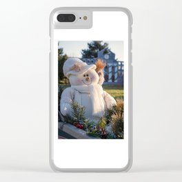A Smiling Snowman Clear iPhone Case
