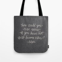nietzsche Tote Bags featuring Nietzsche on Rising Anew by Josh LaFayette