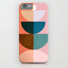 Abstraction_NEW_SHAPE_COLOR_BALANCE_POP_ART_001QM iPhone Case