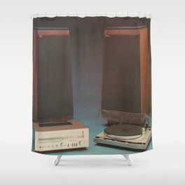 Vintage 1970's HiFi 2 Shower Curtain