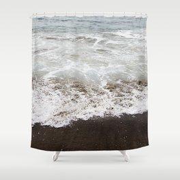 Brown Beach Shower Curtain