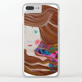 Inky Windy Clear iPhone Case