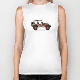 Jurassic Park Jeep Biker Tank