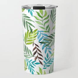 Leaf pattern. Watercolor art Travel Mug