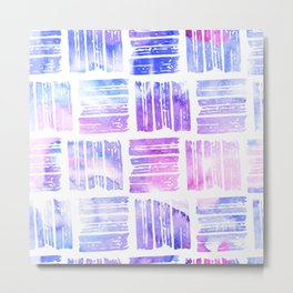 Colorful Abstract Watercolor Pattern Metal Print