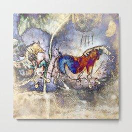 Lascaux Cave Horses II Metal Print
