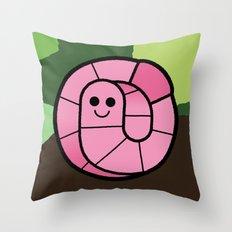 Cutesy Crawlies — Earthworm Throw Pillow