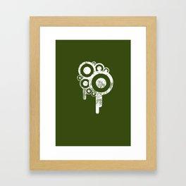 GrungeCircle Framed Art Print