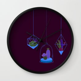 Cactus Terrarium Wall Clock
