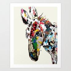 the mod donkey Art Print