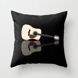 Pale Acoustic Guitar Reflection Throw Pillow