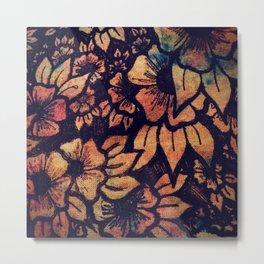 Rainbow Florals  Metal Print