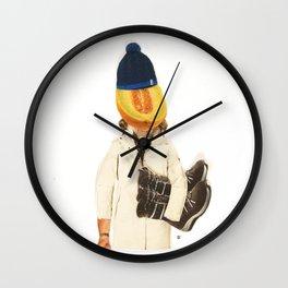 Normal Life · Melone im Kopf Wall Clock