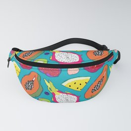 Seedy Fruits in Teal Blue Fanny Pack