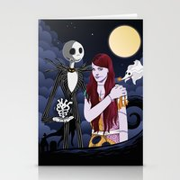 nightmare before christmas Stationery Cards featuring The Nightmare Before Christmas by Cécile Appert