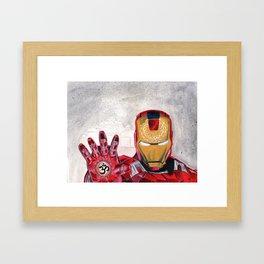 iron man for peace Framed Art Print