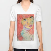allison argent V-neck T-shirts featuring Allison by Taylor Starnes