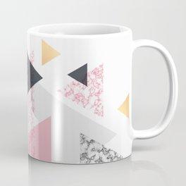 Multi Triangle - Rose Gold and Marble Coffee Mug