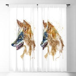 Coyote Head Blackout Curtain