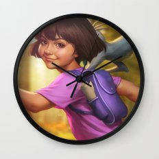 The Little Explorer Wall Clock