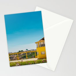 Yellow house with a view Stationery Cards
