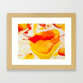 Orange Study Framed Art Print