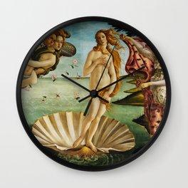 The Birth of Venus by Sandro Botticelli (1485) Wall Clock