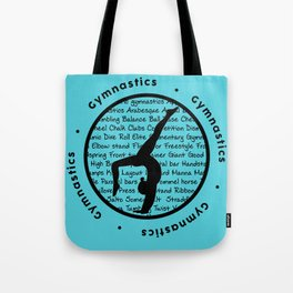 Gymnastic Circle blue Tote Bag