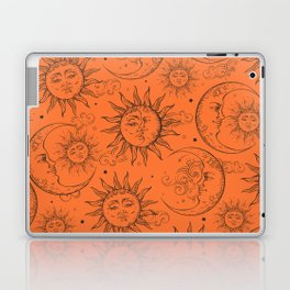 Orange Magic Celestial Sun Moon Stars Laptop & iPad Skin