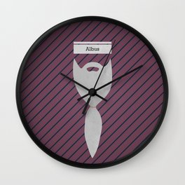 Albus (Famous mustaches and beards) Wall Clock