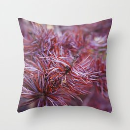 purple pine Throw Pillow