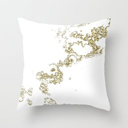 Golden Flow Throw Pillow