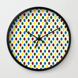 School Days Polka Dots Wall Clock