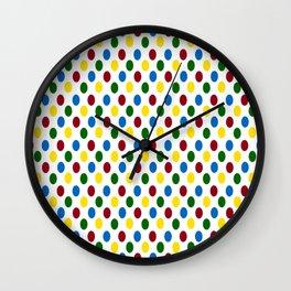 School Days Polka Dots Wall Clock