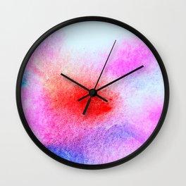 Tie Dye Valentine's Art Wall Clock