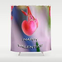 Happy Valentine Shower Curtain