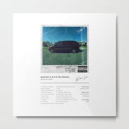 Kendrick Lamar - good kid, m.A.A.d city (Deluxe) - Album Art Metal Print