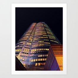 Roppongi Hills Mori Tower at Night - Warm Colors Art Print