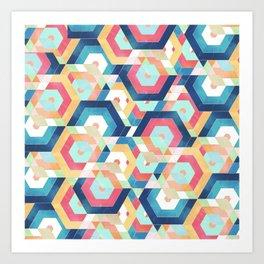 Modern geometric abstract pattern Art Print