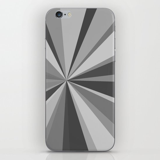 Monochrome Starburst iPhone & iPod Skin