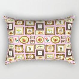 FRAMED FLORAL ART Rectangular Pillow