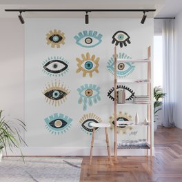 Evil Eye Collage Illustration Wall Mural